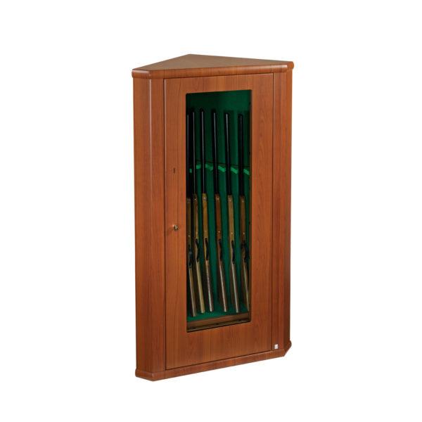 Vitrine Hoekkluis met houtafwerking