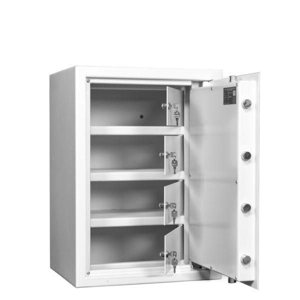 Pistool-munitiekluis-Mustang-Safes-MSP2-4S1-leeg-wit