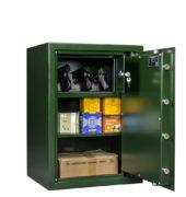 Pistool-munitiekluis-Mustang-Safes-MSP4S1-wapensboven-groen