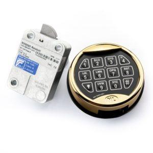 Kluisslot Elektronisch VDS 2 Goud kleur - Mustang Safes