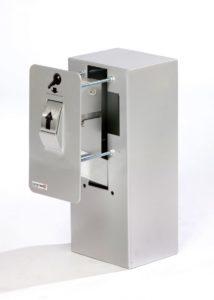 Keysecuritybox KSB107 inbouw sleutel afstortkluis met gevelplaat, rolwiel en binnenkluis. - Mustang Safes