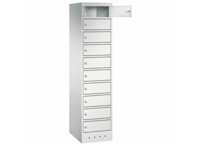 Orgami LFS laptop locker 10-vaks met stroomvoorziening - Mustang Safes