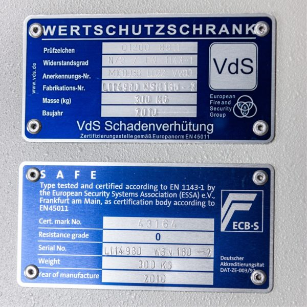 Hartmann wapenkluis met extra opslag – Euroklasse 0 – Occ1632