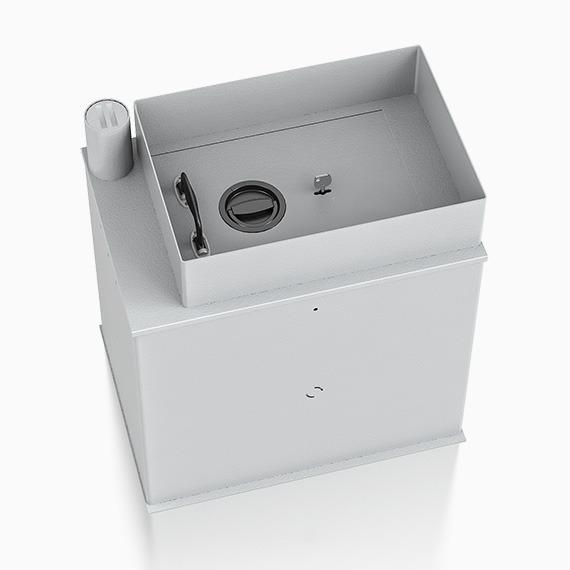 Safebox 2 vloerkluis deposit met afstort