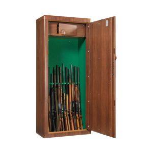 Armoire à fusils couleur bois – Spéciale canons très longs - Mustang Safes