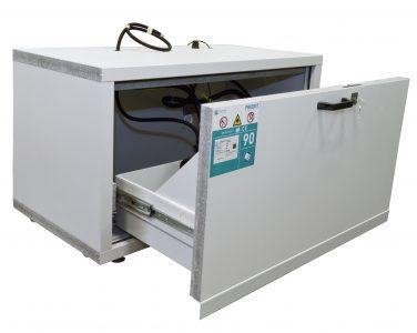 Coffre-fort ignifuge pour batterie Lithium-ion – sous-structure - Mustang Safes